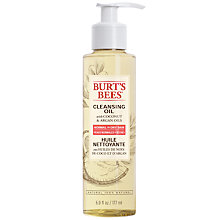 Buy Burt's Bees® Facial Cleansing Oil, 177ml Online at johnlewis.com