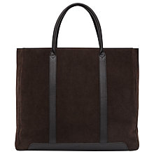 Buy Reiss Leather Tote Bag, Brown Online at johnlewis.com