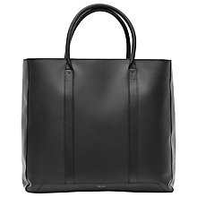 Buy Reiss Leather Tote Bag, Black Online at johnlewis.com