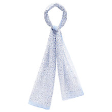 Buy Viyella Ditzy Floral Print Scarf, Blue Online at johnlewis.com