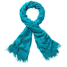 Buy Pure Collection Sophia Ultra Soft Modal Scarf, Vivid Turquoise Online at johnlewis.com
