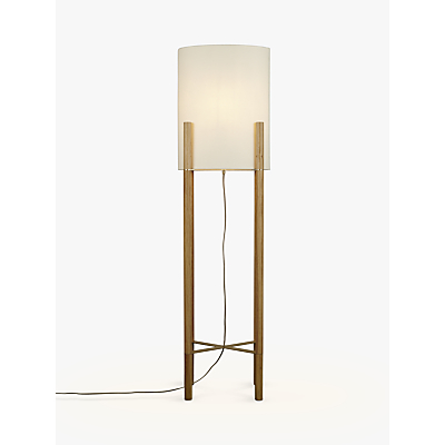 Design Project by John Lewis No.031 Oval Shade Floor Lamp, Oak