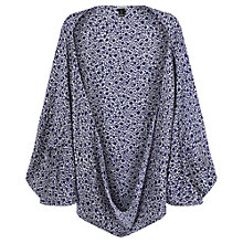 Buy Jigsaw Ink Bleed Repeat Silk Cape, Blue Online at johnlewis.com