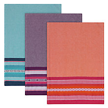 Buy John Lewis Mexican Print Tea Towels, Set of 3 Online at johnlewis.com