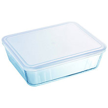 Buy Pyrex Optimum Glass Roaster and Storage Dishes With Lids, L27.5cm, Set of 2 Online at johnlewis.com