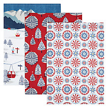 Buy John Lewis Chamonix Christmas Tea Towels, Set of 3 Online at johnlewis.com