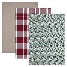 Buy John Lewis Ruskin House Check Tea Towels, Set of 3 Online at johnlewis.com