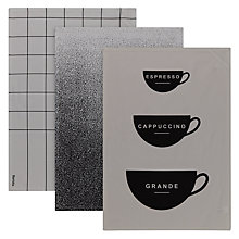 Buy John Lewis Barista Tea Towel, Set of 3 Online at johnlewis.com