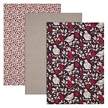 Buy John Lewis Ruskin House Partridge Tea Towels, Set of 3 Online at johnlewis.com
