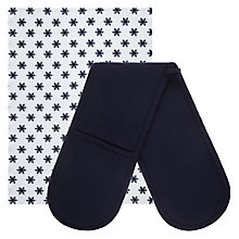 Buy John Lewis Snowflake Double Oven Glove and Tea Towel Set Online at johnlewis.com