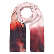 Buy Jigsaw Rose Burst Silk Scarf, Pink Online at johnlewis.com