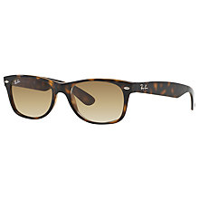 Buy Ray-Ban RB2132 New Wayfarer Sunglasses, Tortoise/Brown Gradient Online at johnlewis.com