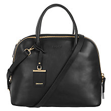 Buy DKNY Vachetta Leather Medium Satchel Online at johnlewis.com