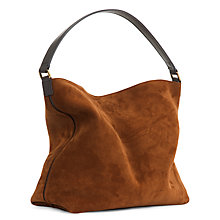 Buy Jaeger Oxford Leather Hobo Bag, Camel Online at johnlewis.com