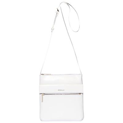 Modalu Erin Leather Across Body Bag, White.