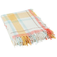 Buy Lexington Wool Check Throw, Yellow Online at johnlewis.com