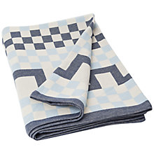 Buy Lexington Jacquard Blanket, Blue Online at johnlewis.com