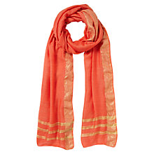 Buy East Metallic Border Scarf Online at johnlewis.com