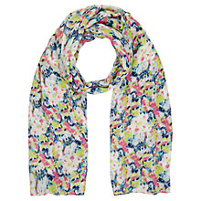 Buy East Penny Print Scarf, Lime Online at johnlewis.com