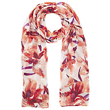 Buy Windsmoor Iris Print Scarf, Orange Online at johnlewis.com
