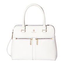 Buy Modalu Pippa Small Leather Grab Bag, White Online at johnlewis.com