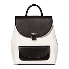 Buy Modalu Flora Small Backpack, Black / Cream Online at johnlewis.com