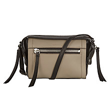 Buy DKNY Crosby Ego Leather Across Body Bag, Soft Desert / Black Online at johnlewis.com
