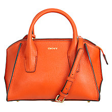 Buy DKNY Chelsea Vintage Mini Satchel, Orange Online at johnlewis.com