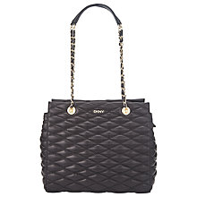 Buy DKNY Gansevoort Leather Shopper Bag, Black Online at johnlewis.com