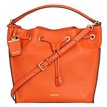 Buy DKNY Chelsea Vintage Leather Bucket Bag Online at johnlewis.com