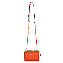 Buy DKNY Bryant Park Saffiano Leather Across Body Bag, Orange Online at johnlewis.com