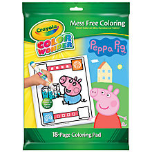 Buy Crayola Peppa Pig Colour Wonder Pad Online at johnlewis.com