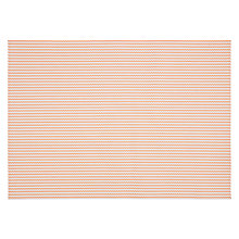 Buy John Lewis Polypropylene Placemat, Orange/ White Online at johnlewis.com