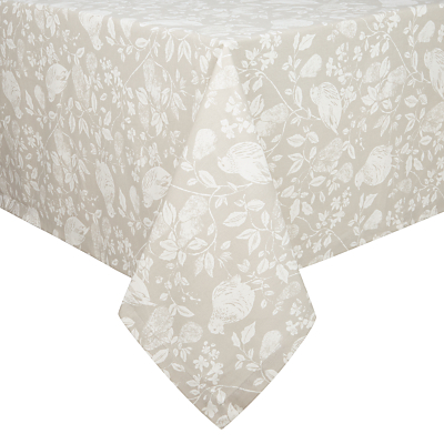 John Lewis Abbeywood Tablecloth, Cream / White