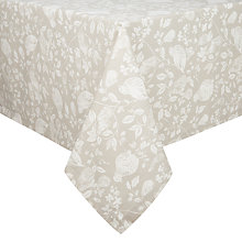 Buy John Lewis Abbeywood Tablecloth, Cream / White Online at johnlewis.com