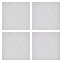 Buy John Lewis Oulu Napkin, Set of 4, Silver / White Online at johnlewis.com
