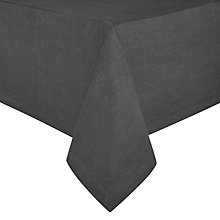 Buy John Lewis Croft Collection Emberton Tablecloth, Steel Online at johnlewis.com