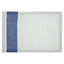 Buy John Lewis Coastal Placemat, Natural / Blue Online at johnlewis.com