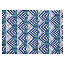 Buy John Lewis Graphic Placemat, Natural / Blue Online at johnlewis.com