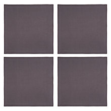 Buy John Lewis Croft Collection Emberton Napkins, Steel, Set of 4 Online at johnlewis.com