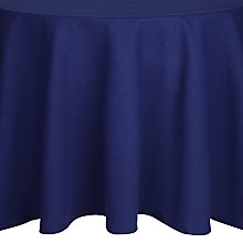 Buy House by John Lewis Round Tablecloth, Navy Online at johnlewis.com