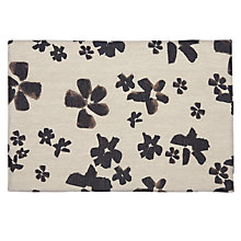 Buy John Lewis Abstract Floral Placemat, Natural / Black Online at johnlewis.com
