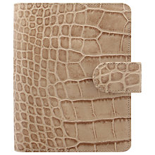 Buy Filofax Classic Croc-Effect Pocket Organiser Online at johnlewis.com