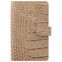 Buy Filofax Classic Croc-Effect Personal Compact Organiser Online at johnlewis.com