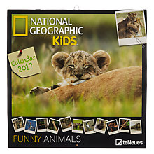 Buy National Geographic Kids 2017 Funny Animals Calendar Online at johnlewis.com