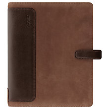 Buy Filofax Holborn A5 Nubuck Organiser, Brown Online at johnlewis.com