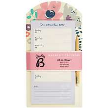 Buy Busy B 2017 Magnetic Calendar with Pencil Online at johnlewis.com