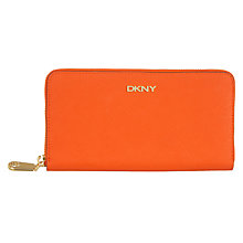 Buy DKNY Bryant Park Saffiano Leather Zip Around Purse Online at johnlewis.com