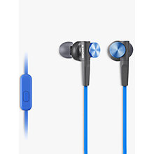 Buy Sony MDR-XB50AP Extra Bass In-Ear Headphones with In-Line Control Online at johnlewis.com