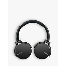 Buy Sony MDR-XB650BT Extra Bass On-Ear Headphones with Bluetooth Online at johnlewis.com